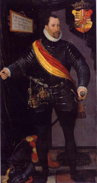 Portræt af Frederik 2. Konge af Danmark og Norge fra 1559 til 1588
