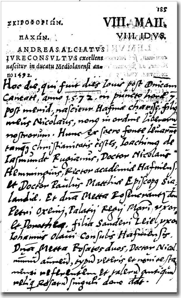 Optegnelser fra 8. maj 1572
