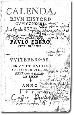 Kalendariets titelblad